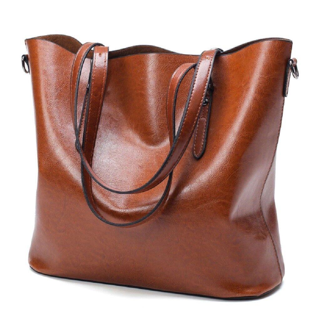 Leather Tote Bag for Women Large Commute Handbag Shoulder Ba