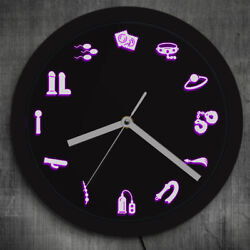 Adult Shop Business Neon Sign Wall Clock Sex Products Supplies Acrylic Watch