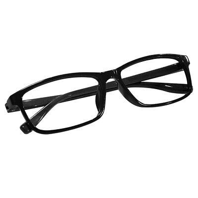 Fashion Kunststoff Brillengestell ohne stärke lesebrille Brille Rahmen, schwarz