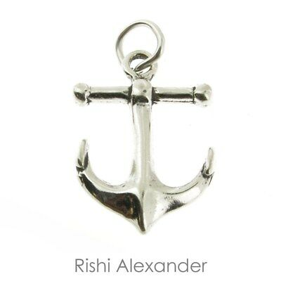 925 Sterling Silver Anchor Charm Made in USA
