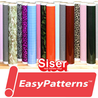 "Siser EasyPatterns® HTV Heat Transfer Vinyl for T-Shirts 18"" by Foot/Yard Roll"
