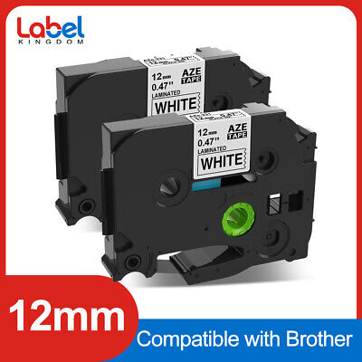 2pk Tze-231 Replace For Brother P-touch Label Tape Cassette 12mm Black On White