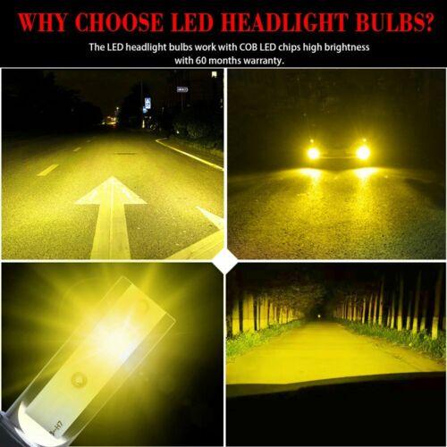 как выглядит 2X H11 Mini Ultra-light Yellow 3000K COB LED Headlight High Low Beam Fog Bulbs фото