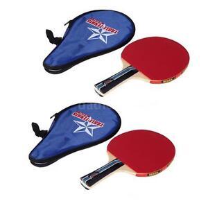 2Pcs Table Tennis Racket PingPong Paddle Bat Case Bag Outdoor Sport Games T8D9