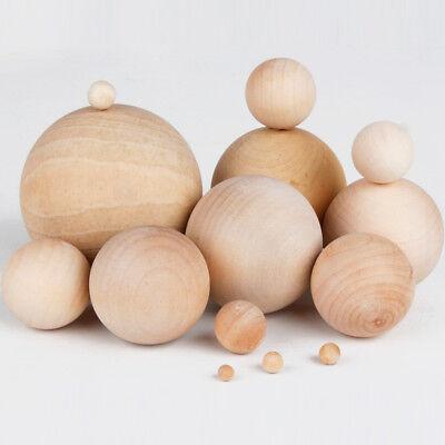 Diameter Round Wooden Ball - Natural Wooden Craft Wood Balls Sphere Round Craft Supplies 6mm to 60mm Diameter