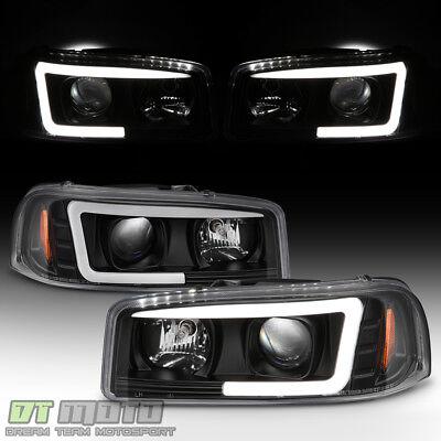 - Black 1999-2006 GMC Sierra Yukon Denali LED Tube Projector Headlights Headlamps