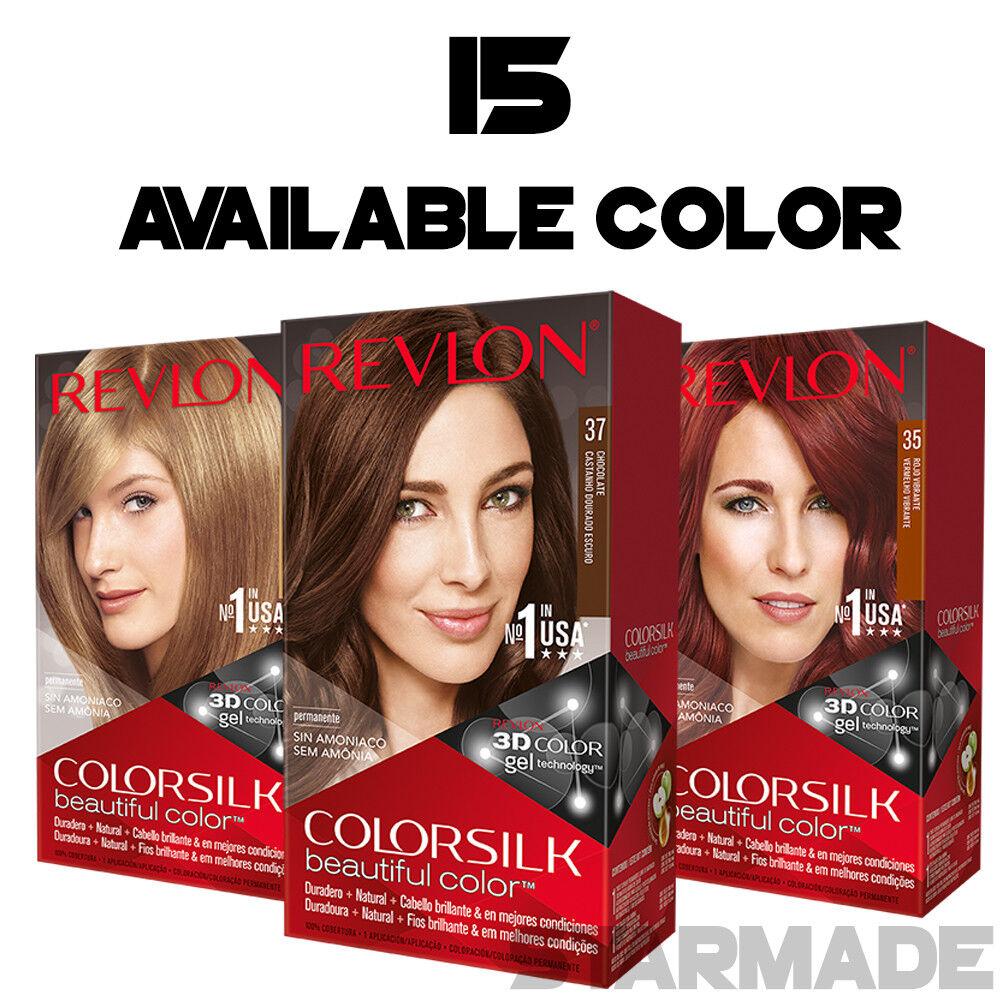 REVLON COLORSILK Beautiful Color Permanent Hair Dye 3D GEL B