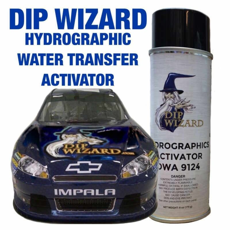 HYDROGRAPHIC FILM ACTIVATOR 6oz DIP WIZARD AEROSOL SPRAY CAN HYDROGRAPHIC HYDRO
