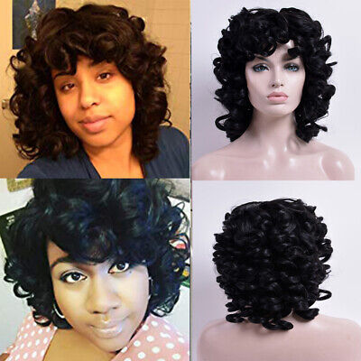 Afro Kinky Curly Hair Synthetic Short Curly Wigs for Black Women Cheap Bob Wig - Cheap Afro Wigs