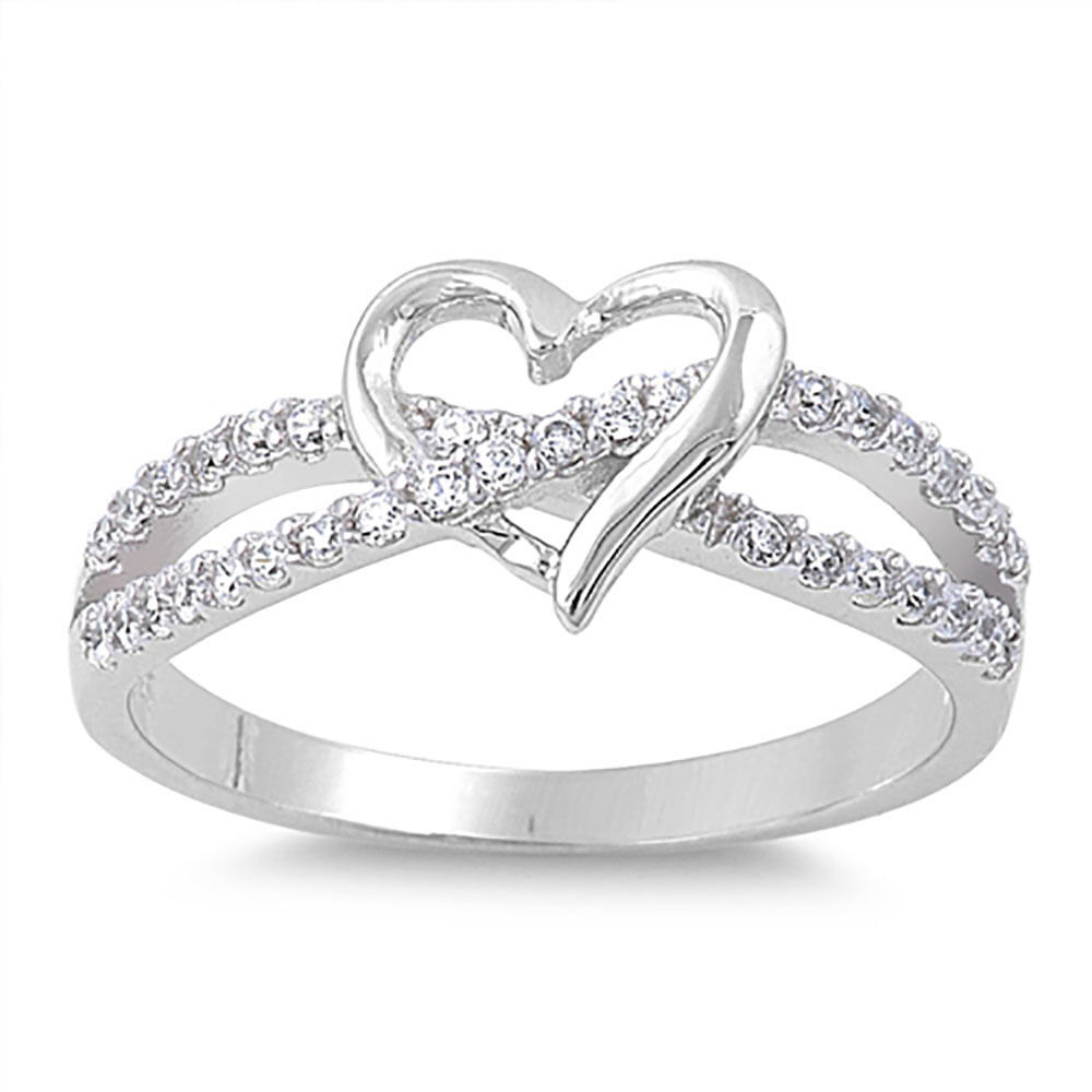 925 Sterling Silver Ring LOVE RING Promise Ring Size 6