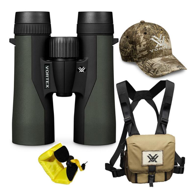 Vortex 8x42 Crossfire HD Roof Prism Binoculars w/Floating Strap & Vortex Hat