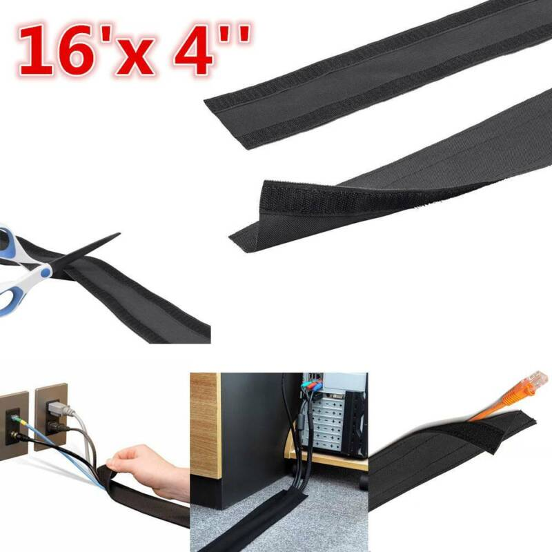 16.4ft Floor Cable Wrap Wall Magic Tape Carpet Wire Cord Hid
