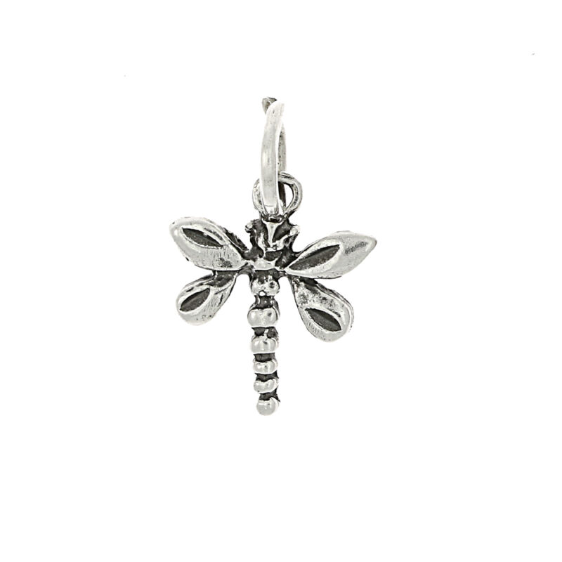SILVER SMALL DRAGONFLY CHARM OR PENDANT