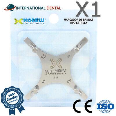 Orthodontic Dental Boone Bracket Gauge Positioning Star Instrument 4.0-5.5mm