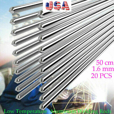 Us 20pcs 1.6mm Aluminum Welding Rods Wire Low Temp Easy Weld Rods Free Ship