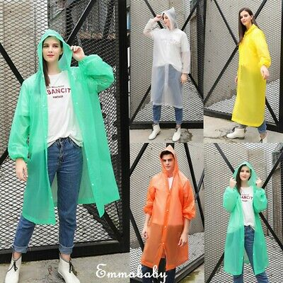 US Waterproof Jacket Hooded Raincoat Rain Coat Poncho Rainwear Outdoor