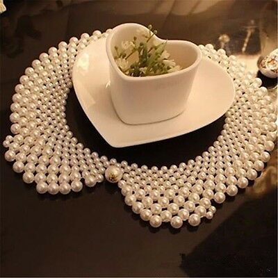 Party Bib - Women Ladies Elegant Faux Pearl Bead Bib Fake Collar Party Wear Necklace