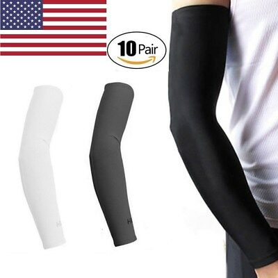 10 Pairs Cooling Arm Sleeves Cover UV Sun Protection Outdoor Sports Basketball