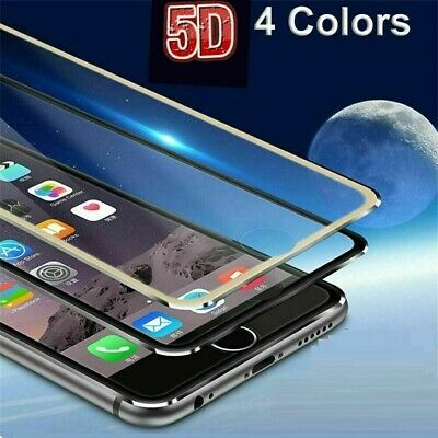 Screen Protector For Apple iPhone Full Curved Tempered Glas 6 6s 7 8 plus 5D New