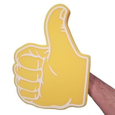 THUMBS UP / THUMBS DOWN YELLOW BIG FOAM HAND -PROMOTIONAL TV AUDIENCE THUMB PROP (Thumbs Up Thumbs Down)
