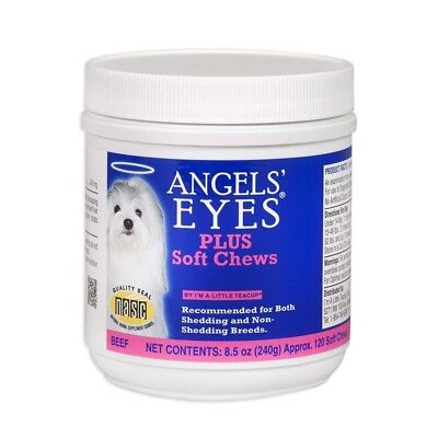 ANGELS EYES DOG TEAR EYE STAIN PLUS SOFT CHEWS 120 COUNT 8.5 oz. EXPIRED 11-2018