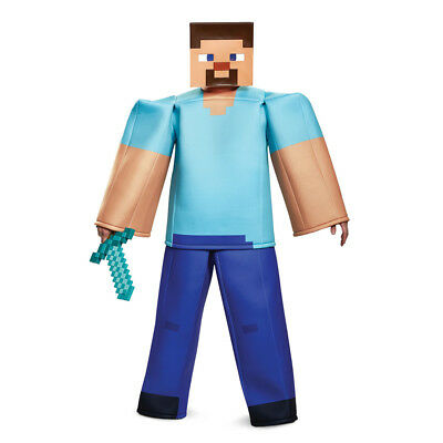 Mens Minecraft Prestige Steve Halloween Costume - Steve Minecraft Halloween Costume