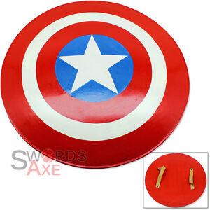America Flag Circular Shield All Metal Replica Round Star Captain Handmade