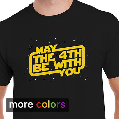 Star Wars Day  May The 4Th Be With You Mens T Shirt Stormtrooper Darth Vader Tee