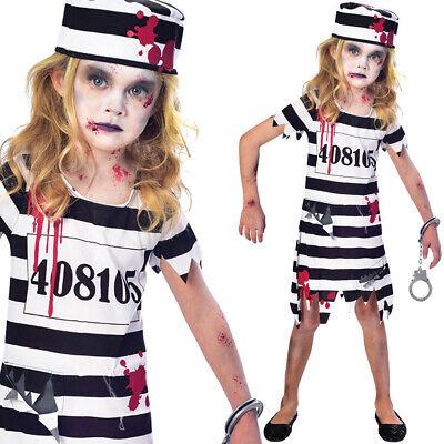 Kinder Zombie Gefangener Kostüm Räuber Mädchen - Räuber Kostüme Halloween