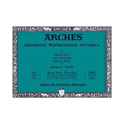 Arches Block 300Lb Cold Press 10X14 (300 Lb Cold Press)
