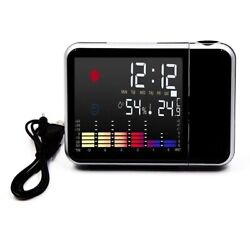 LED Projection Digital Alarm Time Clock Weather Snooze Thermometer Backlight New