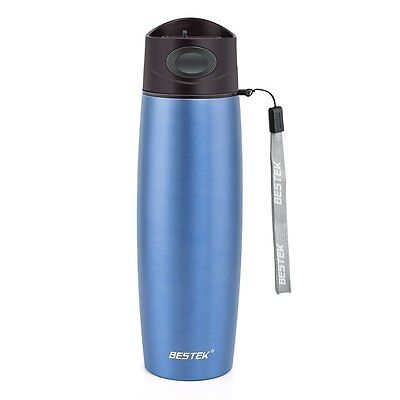 BESTEK sports Water bottle Insulated Stainless Steel Double vacuum mugs strap