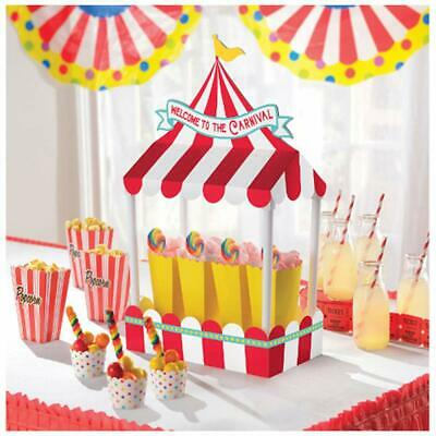 Carnival Party Supplies (CARNIVAL TABLE TENT Decorations Circus Big Top Party Room Welcome Treat)
