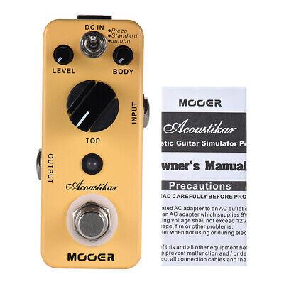 Mooer Acoustikar Acoustic Guitar Simulator Effects Pedal Simulation Pedal Acoustic Simulator Pedal