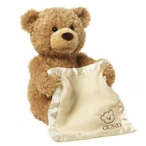 Gund Peek-A-Boo Teddy Bear Animated Stuffed Baby Toy Animal Plush, 11.5