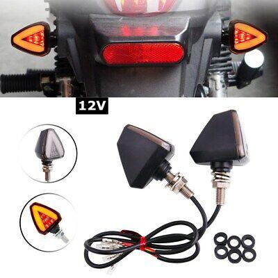 Motorcycle Turn Lights Turn Signal Indicator Blinker Amber Yellow Light Lamp 12V