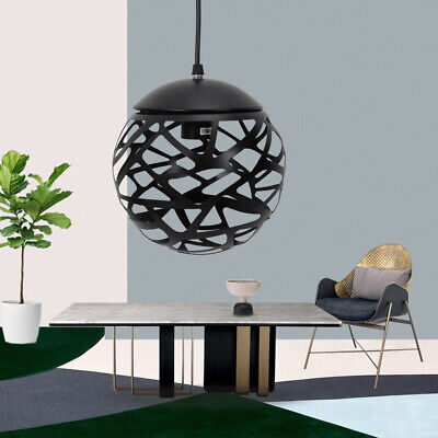 Modern Sphere Iron Ceiling Light Pendant Lamp Chandelier Fixture for Dining Room Dining Room Lighting