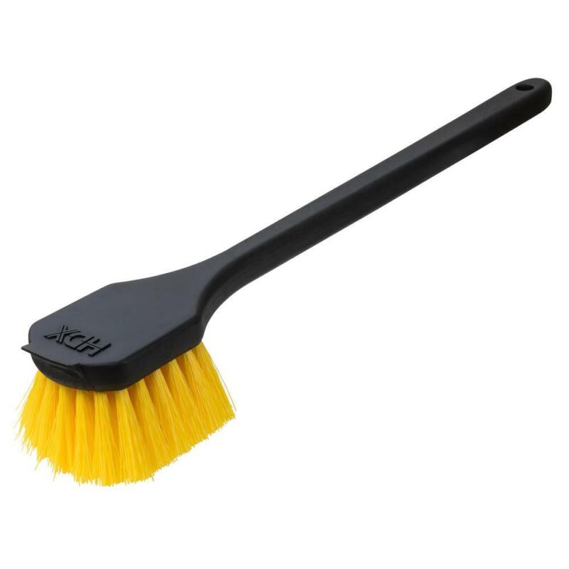 Durably Poly Fiber Heavy Duty Gong Scrub Brush 20 in. Handle with Hang-Up Hole