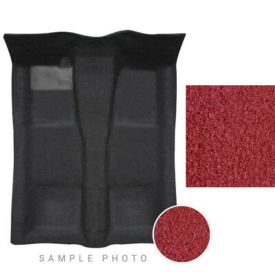 72-93 Dodge Ram Carpet Set 2 Wheel Drive Column Shift Light Maroon Standard Cab