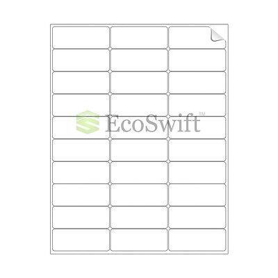 60000 2.625 X 1 Laser Address Shipping Adhesive Labels 30 Per Sheet 1 X 2 58