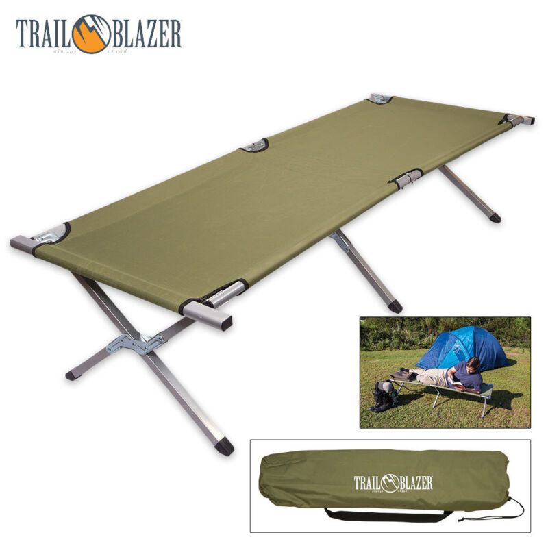 Compact Folding Camping Bed Outdoor Portable Military Cot Sleeping Hiking Travel