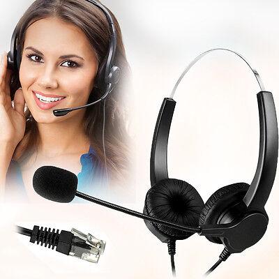 Binaural Headset Noise Canceling Microphone - Crystal Head Hands-free Call Center Noise Cancelling Corded binaural Headphone