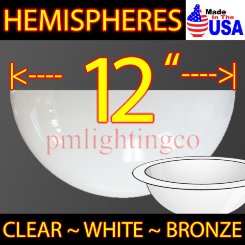 "12"" HEMISPHERE USA MADE ROUND Acrylic Plastic Dome Bubble WINDOW COSPLAY BB-8"