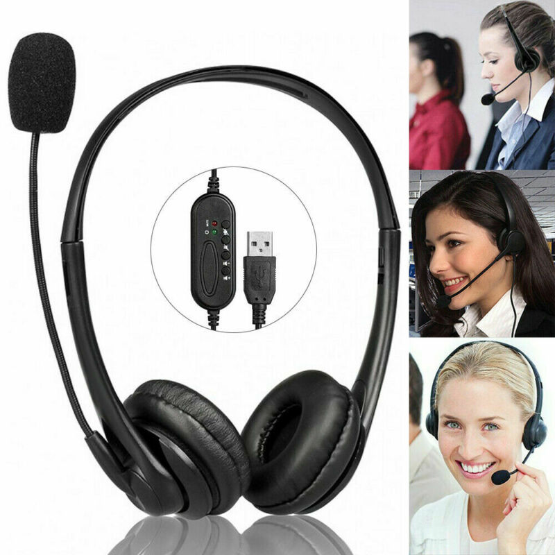 Wired+Call+Center+Headset+Microphone+Corded+Office+Head+Phone+Micphone+Telephone
