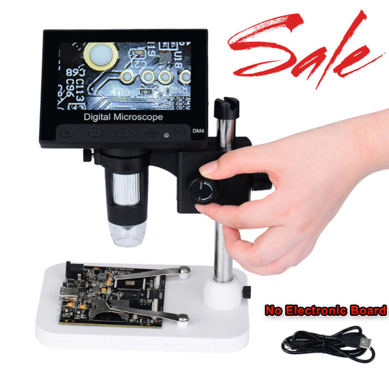 """4.3"""" 1000X HD LCD Monitor Electronic Digital Video Microscope LED Magnifier Best"""