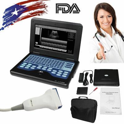 Contec Portable Ultrasound Scanner Laptop Machine 7.5mhz Linear Probe Usa Fedex