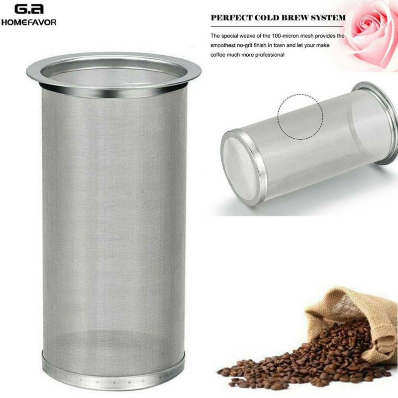 Cold Brew Coffee Maker Filter Stainless Steel For 64oz Wide