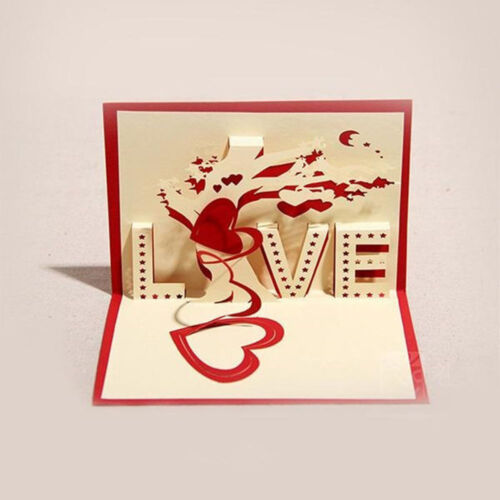 Creative Handmade Paper Sculptures Pierced Cards Christmas Holiday Greeting Card