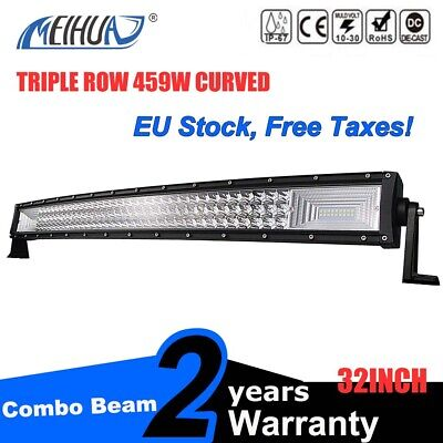 459W 32inch LED Light Bar Combo Beam Curved Work Off road Truck Boat SUV ATV