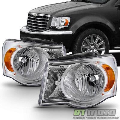 2007 2008 2009 Chrysler Aspen Factory Style Headlights Replacement Headlamps Set